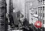 Image of Wall Street financial center 1920s New York City USA, 1925, second 19 stock footage video 65675036356
