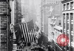 Image of Wall Street financial center 1920s New York City USA, 1925, second 20 stock footage video 65675036356