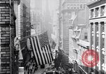 Image of Wall Street financial center 1920s New York City USA, 1925, second 21 stock footage video 65675036356