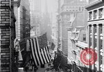Image of Wall Street financial center 1920s New York City USA, 1925, second 22 stock footage video 65675036356