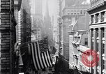 Image of Wall Street financial center 1920s New York City USA, 1925, second 23 stock footage video 65675036356