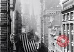 Image of Wall Street financial center 1920s New York City USA, 1925, second 25 stock footage video 65675036356