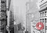 Image of Wall Street financial center 1920s New York City USA, 1925, second 28 stock footage video 65675036356