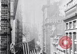 Image of Wall Street financial center 1920s New York City USA, 1925, second 29 stock footage video 65675036356