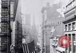 Image of Wall Street financial center 1920s New York City USA, 1925, second 30 stock footage video 65675036356