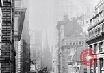 Image of Wall Street financial center 1920s New York City USA, 1925, second 33 stock footage video 65675036356