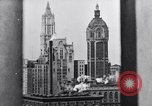 Image of Wall Street financial center 1920s New York City USA, 1925, second 56 stock footage video 65675036356