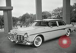 Image of Chrysler Corporation auto show United States USA, 1955, second 4 stock footage video 65675037651