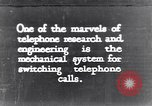 Image of early telephone switching and dialing United States USA, 1926, second 1 stock footage video 65675039599