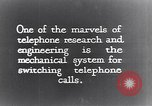 Image of early telephone switching and dialing United States USA, 1926, second 5 stock footage video 65675039599