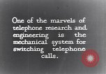 Image of early telephone switching and dialing United States USA, 1926, second 13 stock footage video 65675039599