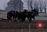 Image of Farmer plowing field New York United States USA, 1970, second 28 stock footage video 65675040534