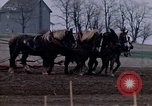 Image of Farmer plowing field New York United States USA, 1970, second 30 stock footage video 65675040534