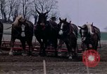 Image of Farmer plowing field New York United States USA, 1970, second 39 stock footage video 65675040534