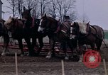 Image of Farmer plowing field New York United States USA, 1970, second 41 stock footage video 65675040534
