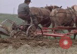 Image of Horse drawn plow New York United States USA, 1970, second 38 stock footage video 65675040541
