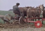 Image of Horse drawn plow New York United States USA, 1970, second 41 stock footage video 65675040541