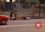Image of Busy street Montego Bay Jamaica, 1972, second 15 stock footage video 65675040556