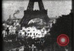 Image of Eiffel tower Paris France, 1900, second 2 stock footage video 65675040586