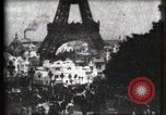 Image of Eiffel tower Paris France, 1900, second 4 stock footage video 65675040586