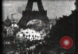 Image of Eiffel tower Paris France, 1900, second 14 stock footage video 65675040586