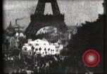 Image of Eiffel tower Paris France, 1900, second 20 stock footage video 65675040586
