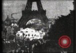 Image of Eiffel tower Paris France, 1900, second 21 stock footage video 65675040586