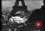 Image of Eiffel tower Paris France, 1900, second 28 stock footage video 65675040586
