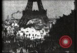 Image of Eiffel tower Paris France, 1900, second 29 stock footage video 65675040586