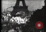Image of Eiffel tower Paris France, 1900, second 31 stock footage video 65675040586