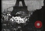 Image of Eiffel tower Paris France, 1900, second 37 stock footage video 65675040586