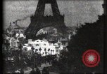 Image of Eiffel tower Paris France, 1900, second 40 stock footage video 65675040586