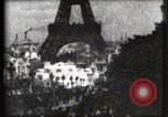 Image of Eiffel tower Paris France, 1900, second 48 stock footage video 65675040586