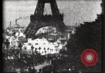 Image of Eiffel tower Paris France, 1900, second 49 stock footage video 65675040586