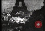 Image of Eiffel tower Paris France, 1900, second 54 stock footage video 65675040586