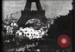Image of Eiffel tower Paris France, 1900, second 57 stock footage video 65675040586