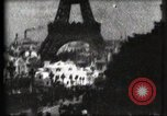 Image of Eiffel tower Paris France, 1900, second 58 stock footage video 65675040586