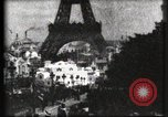 Image of Eiffel tower Paris France, 1900, second 62 stock footage video 65675040586