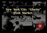 Image of Fulton Fish Market New York City USA, 1903, second 2 stock footage video 65675040617