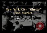 Image of Fulton Fish Market New York City USA, 1903, second 3 stock footage video 65675040617