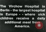 Image of Virchow Hospital Berlin Germany, 1920, second 8 stock footage video 65675040645