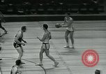 Image of basketball match New York United States USA, 1947, second 46 stock footage video 65675040655