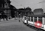 Image of Frankfurt Central Station one year after World War 2 Frankfurt Germany, 1946, second 4 stock footage video 65675040670