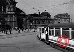 Image of Frankfurt Central Station one year after World War 2 Frankfurt Germany, 1946, second 8 stock footage video 65675040670