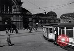 Image of Frankfurt Central Station one year after World War 2 Frankfurt Germany, 1946, second 10 stock footage video 65675040670