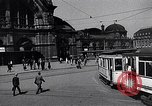 Image of Frankfurt Central Station one year after World War 2 Frankfurt Germany, 1946, second 11 stock footage video 65675040670