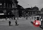 Image of Frankfurt Central Station one year after World War 2 Frankfurt Germany, 1946, second 12 stock footage video 65675040670