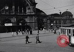 Image of Frankfurt Central Station one year after World War 2 Frankfurt Germany, 1946, second 13 stock footage video 65675040670
