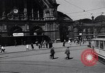 Image of Frankfurt Central Station one year after World War 2 Frankfurt Germany, 1946, second 14 stock footage video 65675040670