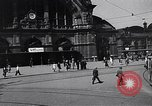 Image of Frankfurt Central Station one year after World War 2 Frankfurt Germany, 1946, second 15 stock footage video 65675040670